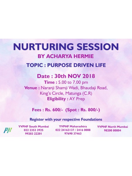Arhatic Nurturing Session