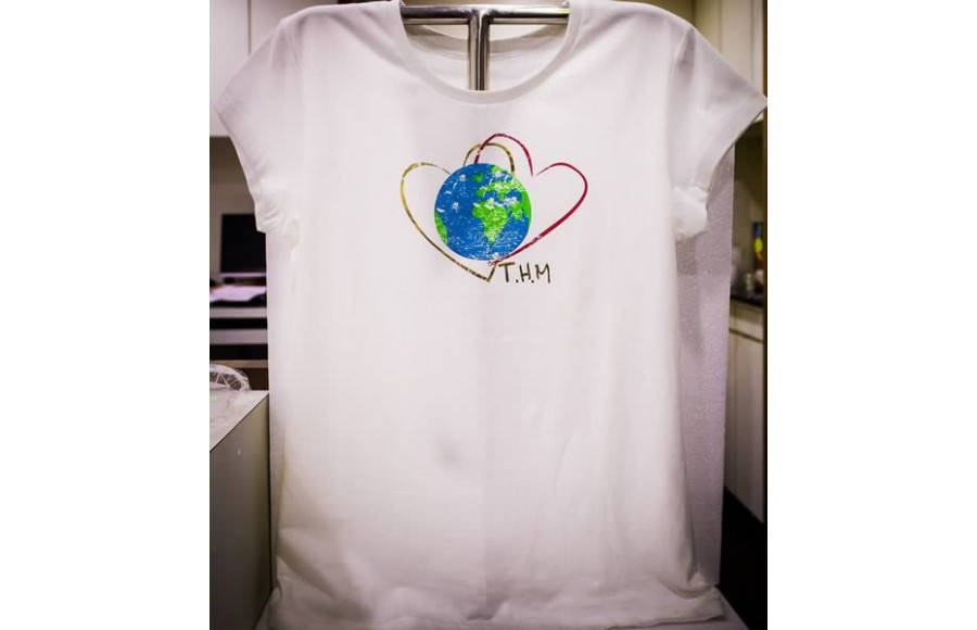 Twin Hearts Meditation T-Shirt (Female)